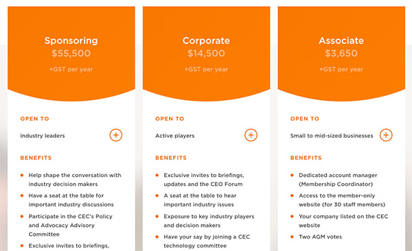 Some of the paid Clean Energy Council Australia memberships