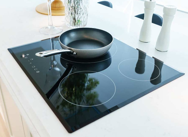 It's easier to clean an induction cooker than a regular stove