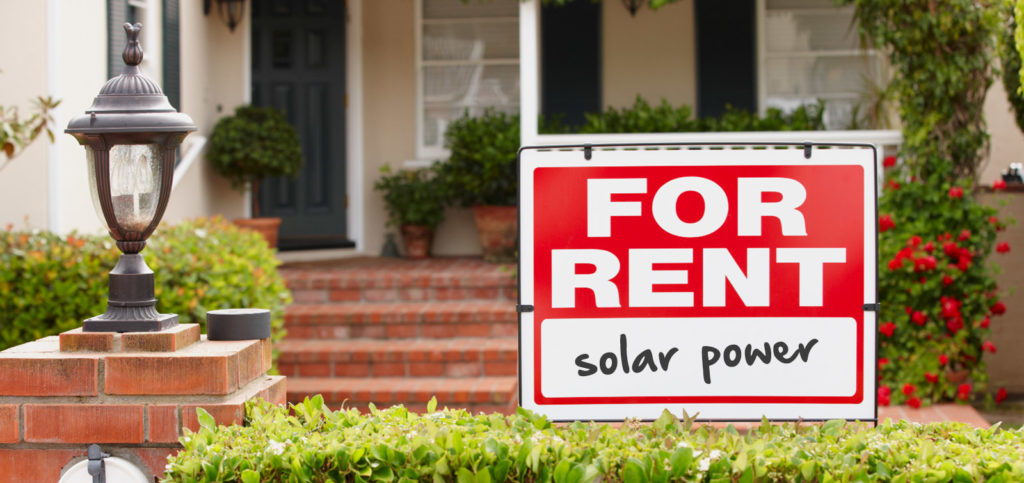 Solar power rebate for renters